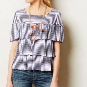 Postmark | Tiered Ruffle Striped T-Shirt Top